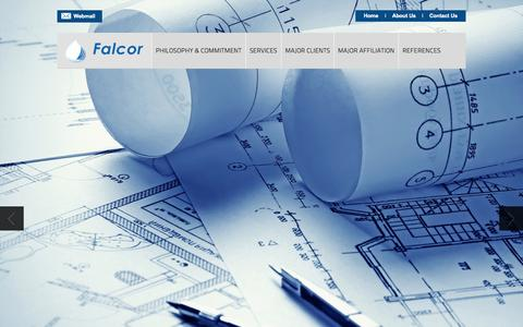 Screenshot of Home Page falcor-eng.com - FALCOR ENGINEERING & CONTRACTING SERVICES - captured Oct. 5, 2014