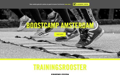 Screenshot of Home Page boostcampamsterdam.nl - Sporten in hartje Amsterdam | Boostcamp Amsterdam - captured Jan. 6, 2016