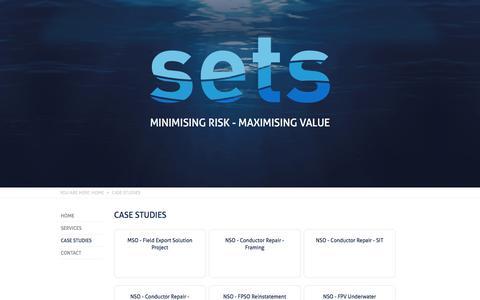 Screenshot of Case Studies Page setsltd.com - Case Studies - SETS - captured May 26, 2017