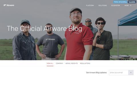 Screenshot of Blog airware.com - The Official Airware Blog | Airware - captured July 16, 2015