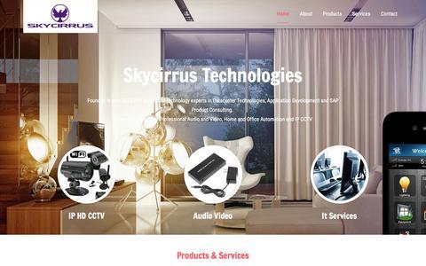 Screenshot of Home Page skycirrus.com - Sky Site - captured Nov. 19, 2016