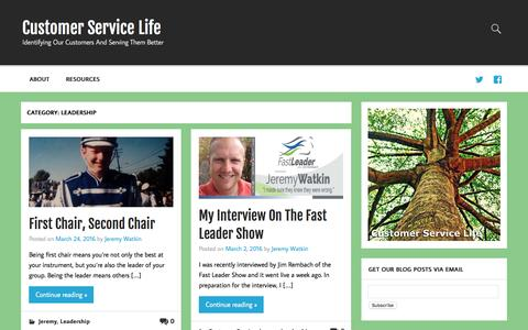 Screenshot of Team Page communicatebetterblog.com - Leadership Archives - Customer Service Life - captured July 15, 2016