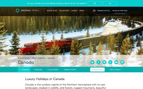 Luxury Holidays Canada | Tailor Made Canada Holidays