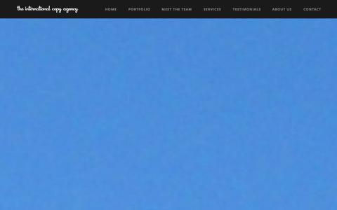 Screenshot of Home Page internationalcopyagency.com - The International Copy Agency - captured Sept. 30, 2014