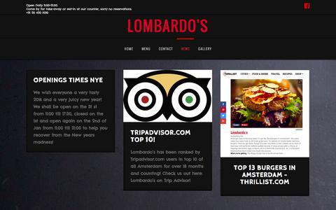 Screenshot of Press Page lombardos.nl - News | Lombardo's - captured Feb. 1, 2016