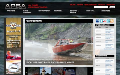 Screenshot of Press Page apba.org - American Power Boat Association | All Things Power Boat Racing - captured Oct. 4, 2014