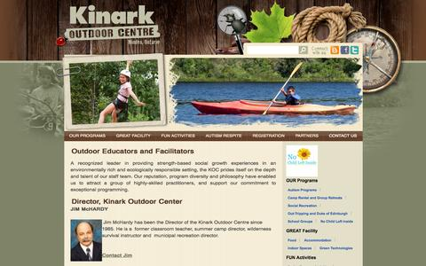 Screenshot of Team Page koc.on.ca - The Team! - captured Oct. 6, 2014