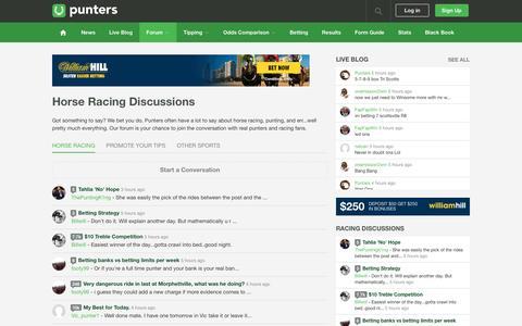 Australian Horse Racing Forum - Punters.com.au