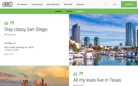 Screenshot of Locations Page meetsoci.com - Locations - SOCi : SOCi - captured April 22, 2019