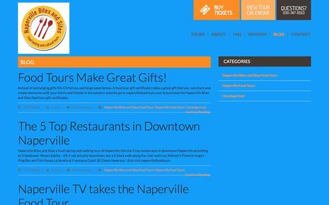 Screenshot of Blog napervillefoodtours.com - blog | Naperville Food Tours - captured Oct. 19, 2017
