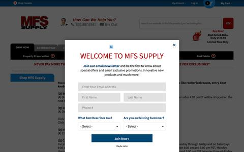 Screenshot of FAQ Page mfssupply.com - Frequently Asked Questions - captured July 26, 2018