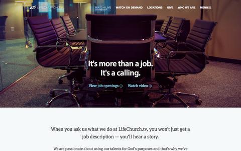 Screenshot of Jobs Page lifechurch.tv - Jobs | LifeChurch.tv - captured Sept. 23, 2014