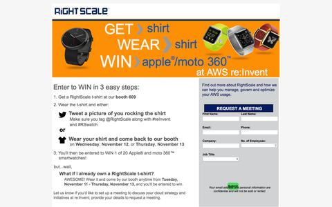 Win a smartwatch at AWS re:Invent 2014