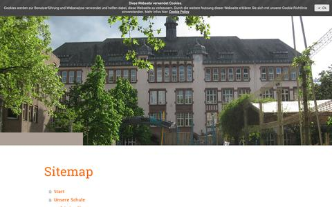 Screenshot of Site Map Page jimdo.com - Sitemap - karmeliterschules Webseite! - captured Dec. 2, 2018