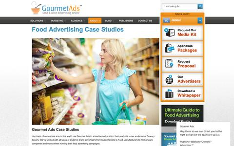 Screenshot of Case Studies Page gourmetads.com - Food Advertising Case Studies - Gourmet Ads - captured July 22, 2018