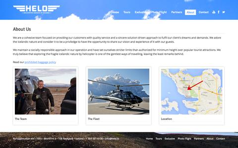 Screenshot of About Page helo.is - Helo | About - captured Oct. 2, 2014