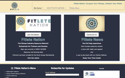 Screenshot of Blog fitletes.com - Welcome To Fitlete Nation - Fitlete Nation - captured Nov. 3, 2014