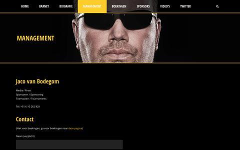 Screenshot of Team Page barney.nl - Barney.nl  Management - Barney.nl - captured Oct. 18, 2018