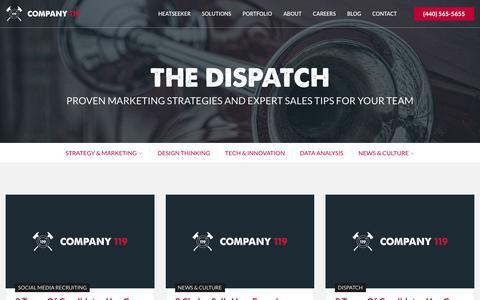 Screenshot of Blog company119.com - Blog - Proven Marketing Strategies and Expert Sales Tips | Company 119 - captured Feb. 9, 2019