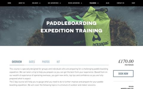 Paddleboarding Expedition Training — Psyched Adventures
