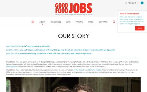 Screenshot of About Page goodfoodjobs.com - Good food jobs. :: About us - captured May 20, 2017