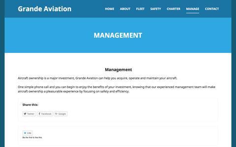 Screenshot of Team Page grandeaviation.com - Management | Grande Aviation - captured Dec. 13, 2015