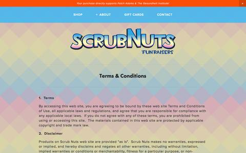 Screenshot of Terms Page scrubnuts.com - Terms — Scrub Nuts - captured Sept. 30, 2014