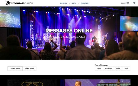 Screenshot of Press Page thecompass.net - Online Sermons   The Compass Church - captured Nov. 11, 2015