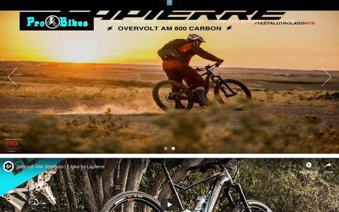 Screenshot of Home Page probikes.cl - Tienda de Bicicletas Probikes - captured Nov. 11, 2018