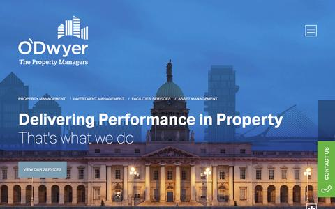 Screenshot of Home Page odpm.ie - O'Dwyer Property Management, Ireland's leading Managing Agents - captured Feb. 13, 2016
