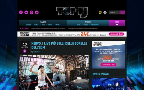 Screenshot of Team Page mediaset.it - PEOPLE | TOP DJ | Sito Ufficiale - captured Nov. 8, 2016