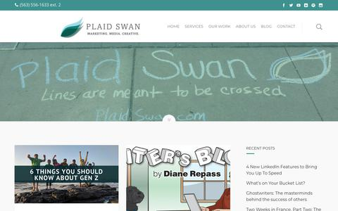 Screenshot of Team Page plaidswan.com - Management Archives - Plaid Swan - captured July 18, 2018