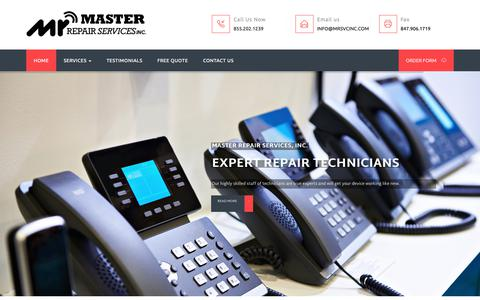 Screenshot of Home Page mrsvcinc.com - Master Repair Services - Telephones Repair and Refurbishing Services - captured Nov. 2, 2018