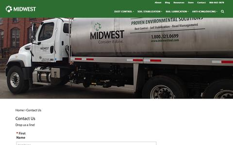 Screenshot of Contact Page midwestind.com - Contact Us - Midwest Industrial Supply - captured Dec. 14, 2019