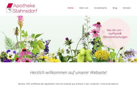 Screenshot of Home Page apotheke-stahnsdorf.de - Home - Apotheke Stahnsdorf - captured June 10, 2018