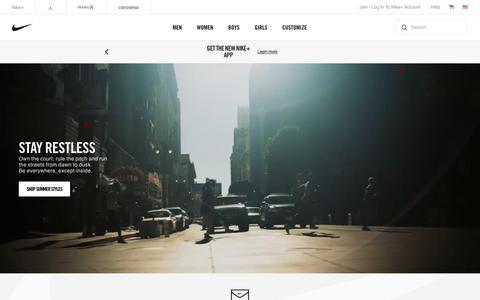 Screenshot of Home Page nike.com - Nike. Just Do It. Nike.com - captured April 21, 2017