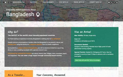 Screenshot of FAQ Page golpata.com - FAQ on Bangladesh Traveling and Backpacking   Golpata Eco-Tourism - captured Nov. 3, 2018