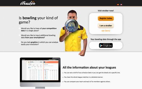 Screenshot of Home Page straiker.com - Straiker – Toda la información sobre el mundo de los bolos - captured Oct. 7, 2014