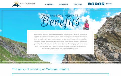 Benefits| Massage Heights Careers
