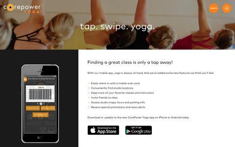 Mobile App | CorePower Yoga