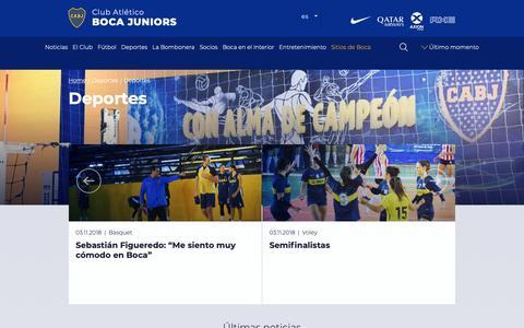 Screenshot of Press Page bocajuniors.com.ar - Deportes   Deportes - captured Nov. 6, 2018