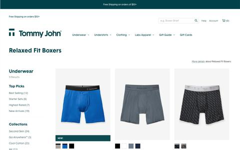 Relaxed Fit Boxer | Tommy John
