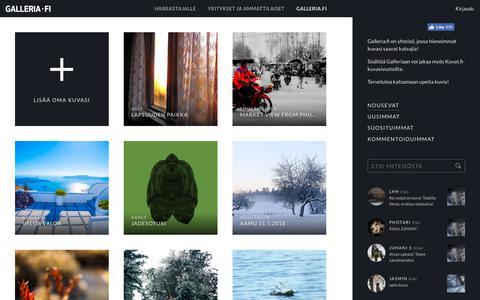 Screenshot of Home Page galleria.fi - Käyttäjiemme jakamat hienoimmat kuvat - captured Feb. 5, 2018
