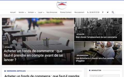 Screenshot of Home Page immo-pro-commerce.com - Immo Pro Commerce - Achats et Cessions d'Entreprises - captured Sept. 27, 2018