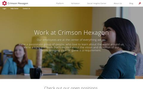 Screenshot of Jobs Page crimsonhexagon.com - Careers | Crimson Hexagon - captured July 3, 2015