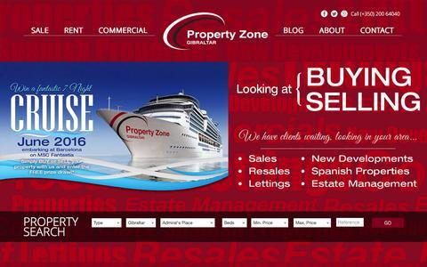 Screenshot of Home Page propertyzonegibraltar.com - Gibraltar Estate Agents - Apartments for rent | Property Zone Gibraltar - captured Nov. 12, 2015