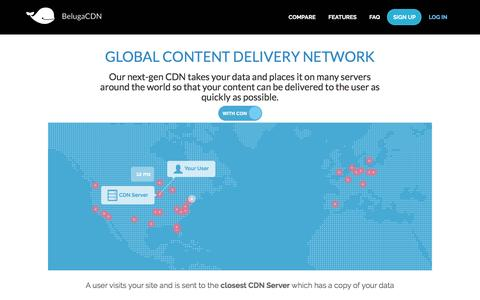Screenshot of Signup Page belugacdn.com - Global Content Delivery Network (CDN) Service | BelugaCDN - captured May 6, 2017