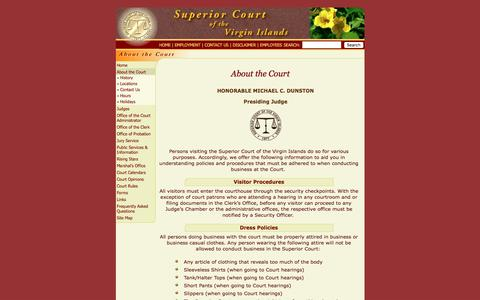Screenshot of About Page visuperiorcourt.org - About the Court - captured Oct. 25, 2017