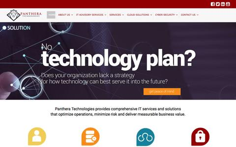 Screenshot of Home Page pantheratech.com - CaaS, Medical IT and IT Advisory Services | Panthera Technologies - captured Oct. 19, 2016