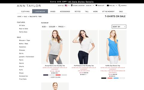 Women's Knits + T-Shirts on Sale - Great Deals on Simple Style | ANN TAYLOR